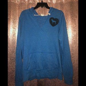 Victoria's Secret PINK sweatshirt in blue